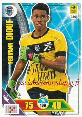 2017-18 - Panini Adrenalyn XL Ligue 1 - N° 354 - Yehvann DIOUF (Troyes)