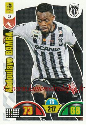 2018-19 - Panini Adrenalyn XL Ligue 1 - N° 023 - Abdoulaye BAMBA (Angers)