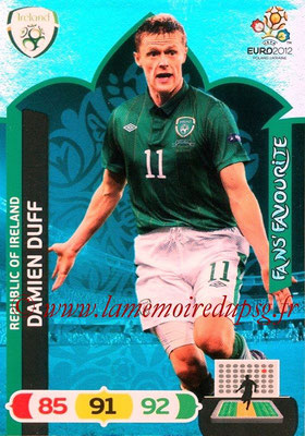 Panini Euro 2012 Cards Adrenalyn XL - N° 270 - Damien DUFF (Eire) (Fans' Favourite)