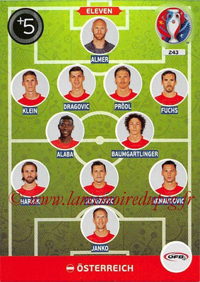 Panini Euro 2016 Cards - N° 243 - Équipe Type de Autriche