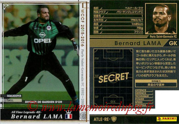N° ATLE-RE1 - Bernard LAMA (All time Legends)