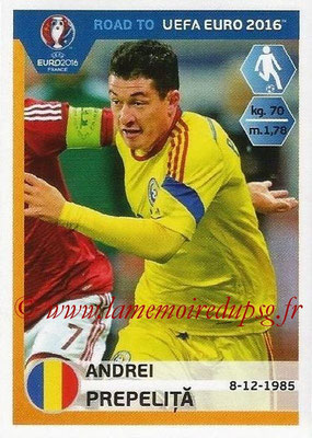Panini Road to Euro 2016 Stickers - N° 251 - Andrei PREPELITA (Roumanie)