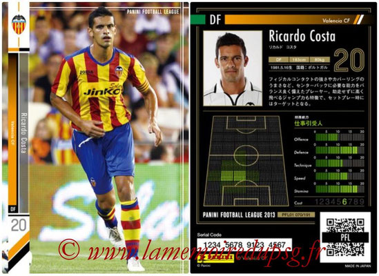 Panini Football League 2013 - PFL01 - N° 070 - Ricardo Costa ( Valencia CF )