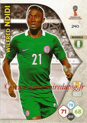 2018 - Panini FIFA World Cup Russia Adrenalyn XL - N° 240 - Wilfired NDIDI (Nigeria)
