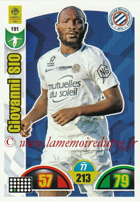 2018-19 - Panini Adrenalyn XL Ligue 1 - N° 191 - Giovanni SIO (Montpellier)