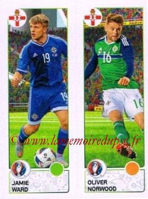 Panini Euro 2016 Stickers - N° 323 - Jamie WARD + Oliver NORWOOD (Irlande du Nord)