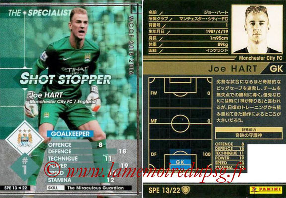 2015-16 - Panini WCCF - N° SPE13 - Joe HART (Manchester City FC) (The Specialist)