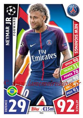 2017-18 - Topps UEFA Champions League Match Attax - N° NS01 - NEYMAR Jr (Paris Saint-Germain) (New Signings)