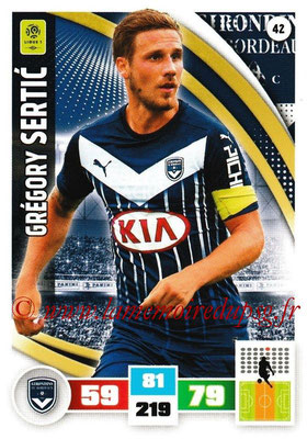 2016-17 - Panini Adrenalyn XL Ligue 1 - N° 042 - Grégory SERTIC (Bordeaux)
