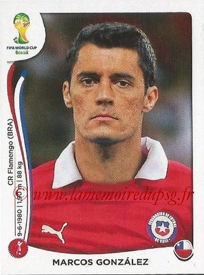 2014 - Panini FIFA World Cup Brazil Stickers - N° 149 - Marcos GONZALEZ (Chili)