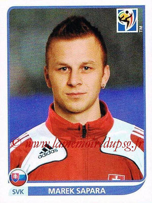 2010 - Panini FIFA World Cup South Africa Stickers - N° 477 - Marek SAPARA (Slovaquie)