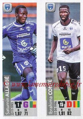 2018-19 - Panini Ligue 1 Stickers - N° 546 - Saturnin ALLAGBE + Ibrahima CONTE (Chamois Niortais FC)