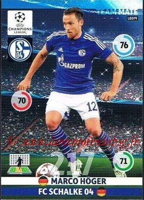 2014-15 - Adrenalyn XL champions League Update edition N° UE079 - Marco HOGER (FC Schalke 04)