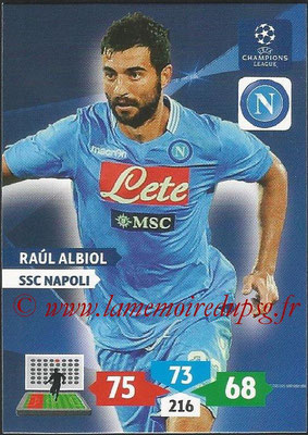 2013-14 - Adrenalyn XL champions League N° 192 - Raul ALBIOL (SSC Napoli)