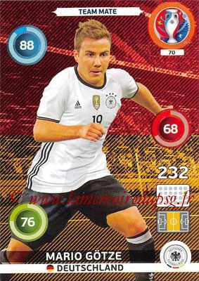 Panini Euro 2016 Cards - N° 070 - Mario GÖTZE (Allemagne)