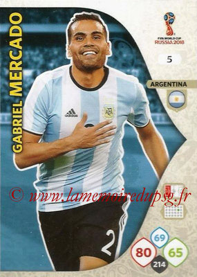 2018 - Panini FIFA World Cup Russia Adrenalyn XL - N° 005 - Garbiel MERCADO (Argentine)