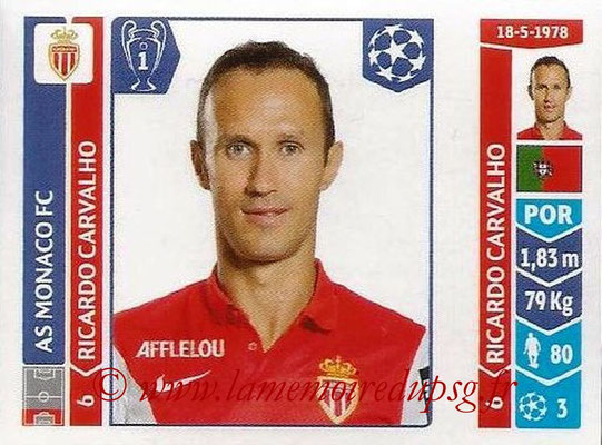 2014-15 - Panini Champions League N° 237 - Ricardo CARVALHO (AS Monaco)