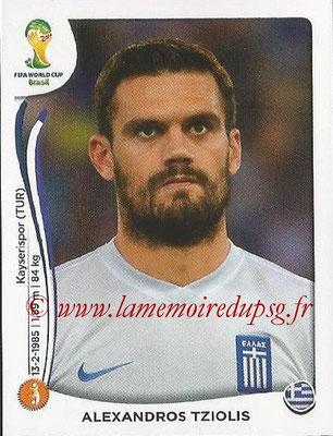 2014 - Panini FIFA World Cup Brazil Stickers - N° 215 - Alexandros TZIOLIS (Grèce)