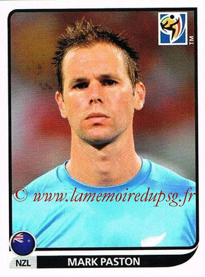 2010 - Panini FIFA World Cup South Africa Stickers - N° 450 - Mark PASTON (Nouvelle Zelande)