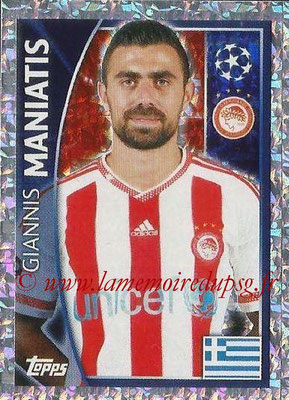2015-16 - Topps UEFA Champions League Stickers - N° 413 - Giannis MANIATIS (Olympiacos FC)