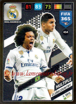 2017-18 - Panini FIFA 365 Cards - N° 454 - MARCELO + CASEMIRO (Real Madrid CF) (Club & Country)