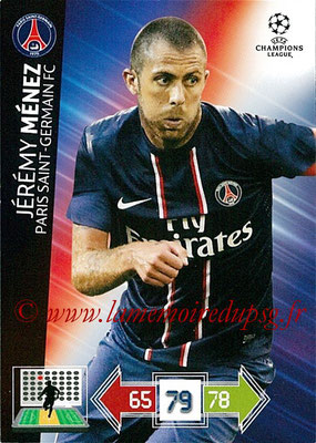 2012-13 - Adrenalyn XL champions League N° 211 - Jérémy MENEZ (Paris Saint-Germain)
