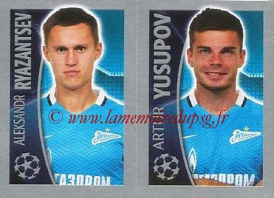 2015-16 - Topps UEFA Champions League Stickers - N° 535 - Aleksandr RYAZANTSEV + Artur YUSUPOV (FC Zenit)