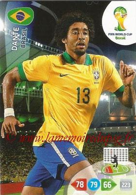2014 - Panini FIFA World Cup Brazil Adrenalyn XL - N° 049 - DANTE (Brésil)