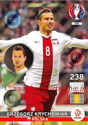 Panini Euro 2016 Cards - N° 256 - Grzegorz KRYCHOWIAK (Pologne) (One To Watch)