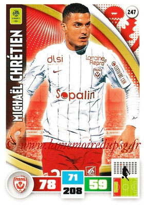 2016-17 - Panini Adrenalyn XL Ligue 1 - N° 247 - Michael CHRETIEN (Nancy)