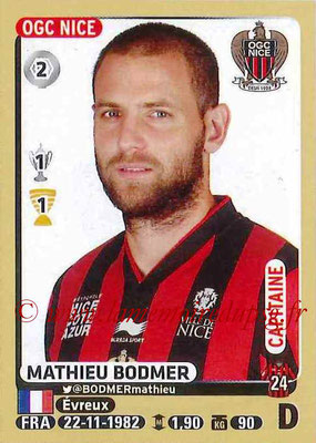2015-16 - Panini Ligue 1 Stickers - N° 317 - Mathieu BODMER (OGC Nice)