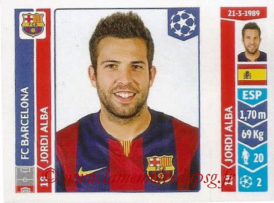 2014-15 - Panini Champions League N° 421 - Jordi ALBA (FC Barcelone)