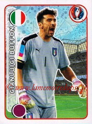 Panini Euro 2016 Stickers - N° 491 - Gianluigi BUFFON (Italie)