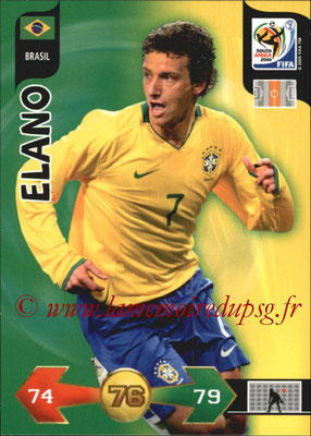 2010 - Panini FIFA World Cup South Africa Adrenalyn XL - N° 041 - ELANO (Bresil)