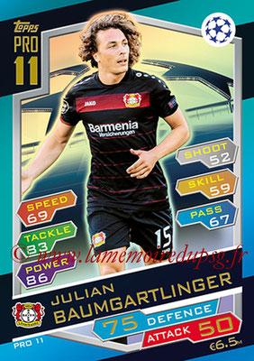 2016-17 - Topps UEFA Champions League Match Attax - N° PRO11 - Juilian BAUMGARTLINGER (Bayer 04 Leverkusen) (Pro 11)