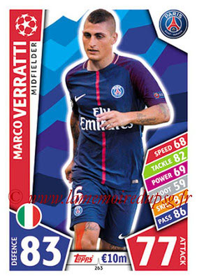 2017-18 - Topps UEFA Champions League Match Attax - N° 263 - Marco VERRATTI (Paris Saint-Germain)