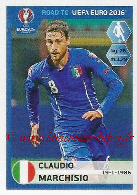 Panini Road to Euro 2016 Stickers - N° 170 - Claudio MARCHISIO (Italie)