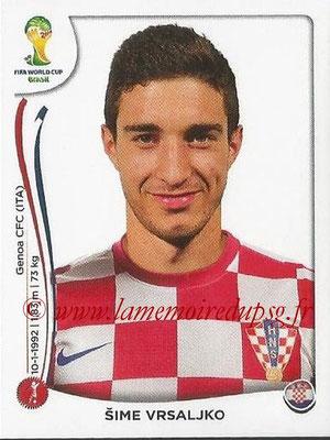 2014 - Panini FIFA World Cup Brazil Stickers - N° 059 - Sime VRSALJKO (Croatie)