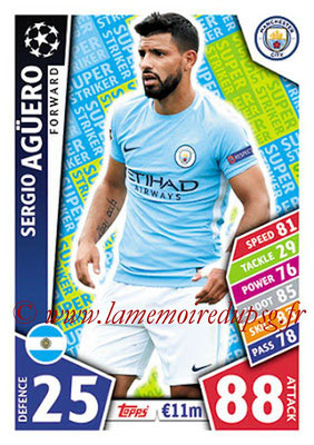 2017-18 - Topps UEFA Champions League Match Attax - N° SS10 - Sergio AGUERO (Manchester City FC) (Super Strikers)
