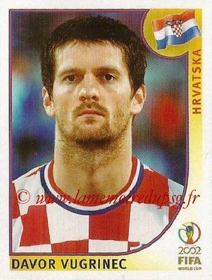 2002 - Panini FIFA World Cup Stickers - N° 488 - Davor VUGRINEC (Croatie)