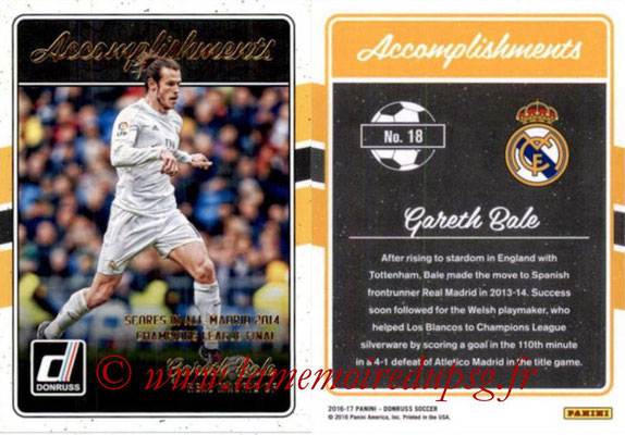 2016 - Panini Donruss Cards - N° A18 - Gareth BALE (Real Madrid CF) (Accomplishments)