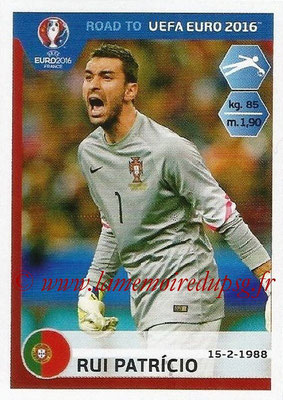 Panini Road to Euro 2016 Stickers - N° 225 - Rui PATRICIO (Portugal)