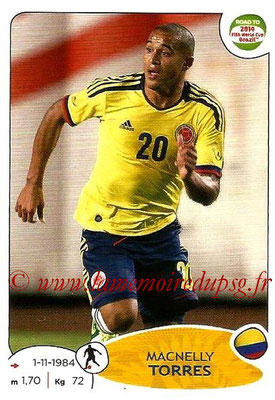 2014 - Panini Road to FIFA World Cup Brazil Stickers - N° 182 - Macnelly TORRES (Colombie)