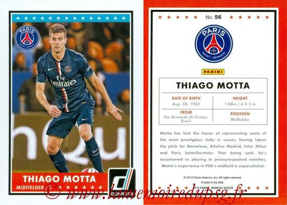 2015 - Panini Donruss Soccer - N° 056 - Thiago MOTTA (Paris Saint-Germain)