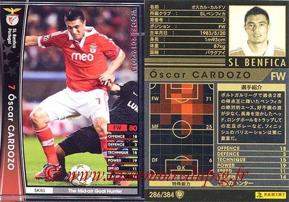2012-13 - WCCF - N° 286 - Oscar CARDOZO (SL Benfica)