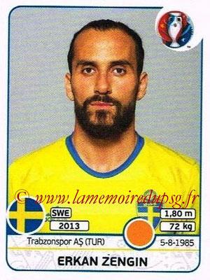 Panini Euro 2016 Stickers - N° 563 - Erkan ZENGIN (Suède)