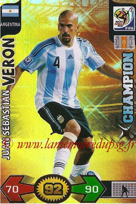 2010 - Panini FIFA World Cup South Africa Adrenalyn XL - N° 020 - Juan Sebastian VERON (Argentine) (Champion)