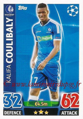 2015-16 - Topps UEFA Champions League Match Attax - N° 320 - Kalifa COULIBALY (KAA Gent)