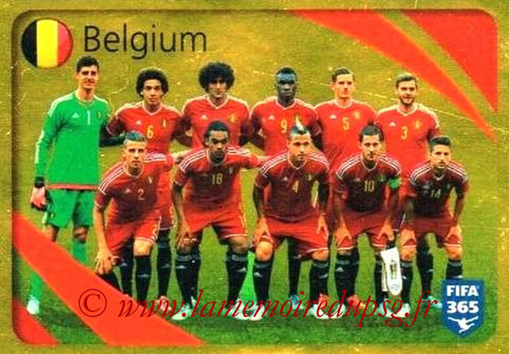 2015-16 - Panini FIFA 365 Stickers - N° 852 - Belgique (Brillante)