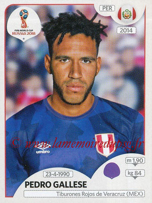 2018 - Panini FIFA World Cup Russia Stickers - N° 234 - Pedro GALLES (Pérou)